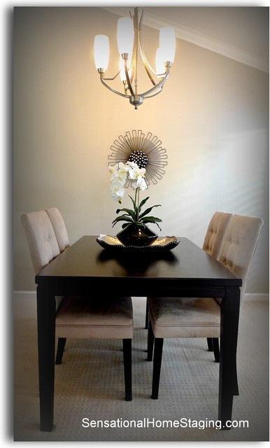 Crow Canyon Country Club ~ Home Staging contemporary-dining-room