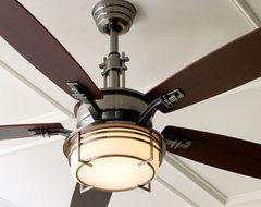Modern Pewter Ceiling Fan eclectic-ceiling-fans