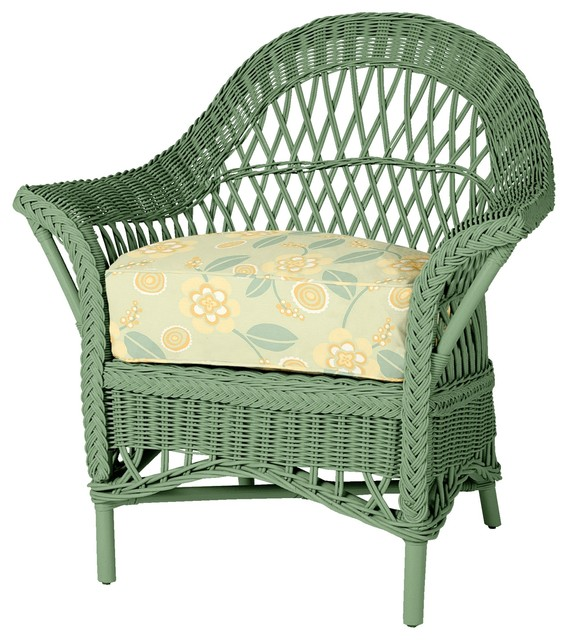 Comfy Wicker Chair Traditional Outdoor Lounge Chairs By Maine Cottage