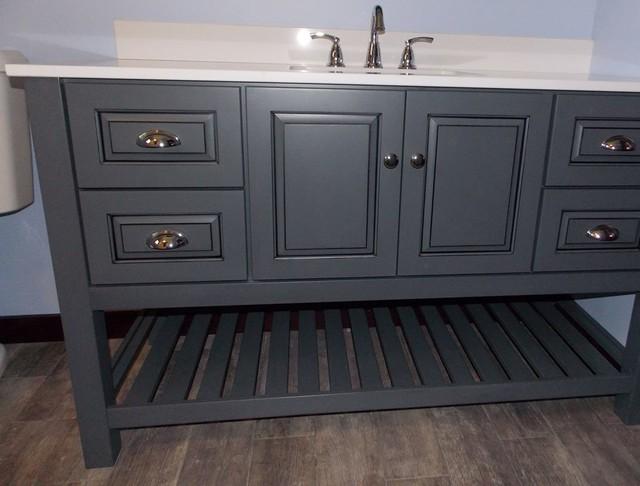 Sturbridge Lake House Craftsman Bathroom Vanities And Sink Consoles Boston By Elmore