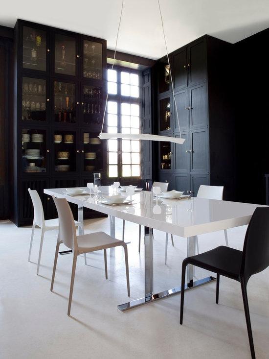 Cineline - Ligne Roset - Cineline dining table, Petra dining chair.