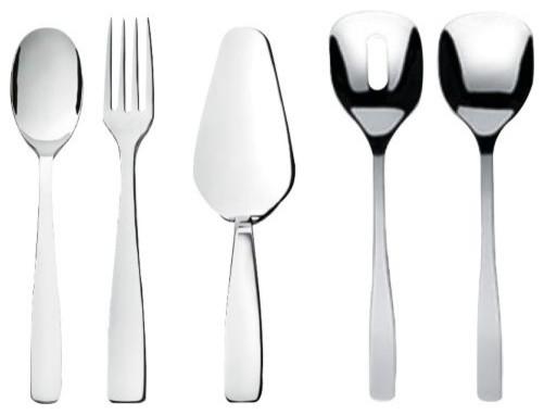 Knifeforkspoon serving set by alessi modern