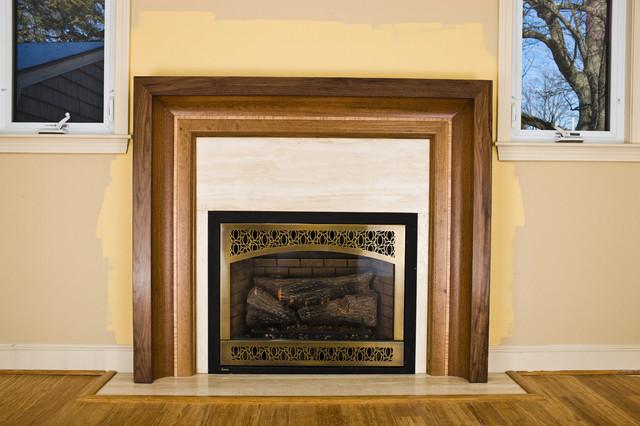 """Contemporary Fireplace Mantels Fireplace mantels """"raama"""""""