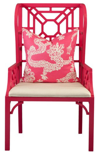 Boulevard Wing Chair by Lilly Pulitzer eclectic chairs