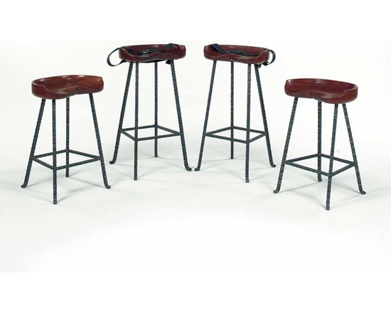 Wright Table Company - The No. WR 116 Counter & No. 117 Bar Tractor Seat Stools -