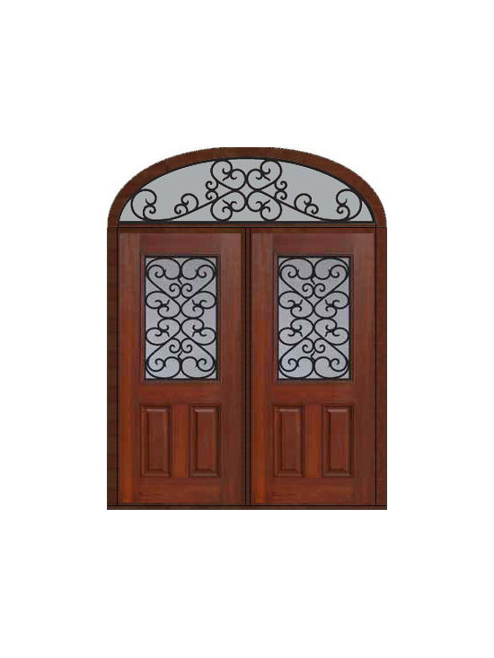 "Prehung Transom Double Door 80 Fiberglass Palermo 1/2 Lite - SKU#    MCT012WP_DFHPG2-EPGBrand    GlassCraftDoor Type    ExteriorManufacturer Collection    1/2 Lite Entry DoorsDoor Model    PalermoDoor Material    FiberglassWoodgrain    Veneer    Price    3885Door Size Options    2(36"")[6'-0""]  $0Core Type    Door Style    Door Lite Style    1/2 LiteDoor Panel Style    2 PanelHome Style Matching    Door Construction    Prehanging Options    PrehungPrehung Configuration    Double Door and Elliptical TransomDoor Thickness (Inches)    1.75Glass Thickness (Inches)    Glass Type    Double GlazedGlass Caming    Glass Features    Tempered glassGlass Style    Glass Texture    Glass Obscurity    Door Features    Door Approvals    Energy Star , TCEQ , Wind-load Rated , AMD , NFRC-IG , IRC , NFRC-Safety GlassDoor Finishes    Door Accessories    Weight (lbs)    753Crating Size    36"" (w)x 108"" (l)x 89"" (h)Lead Time    Slab Doors: 7 Business DaysPrehung:14 Business DaysPrefinished, PreHung:21 Business DaysWarranty    Five (5) years limited warranty for the Fiberglass FinishThree (3) years limited warranty for MasterGrain Door Panel"