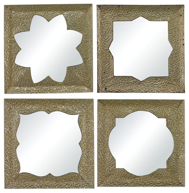 Sterling Industries 138-065/S4 Pine Island-Set Of 4 Moroccan Motif  Mirrors contemporary-mirrors
