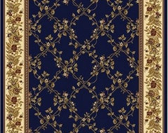Noble Navy Rug modern rugs