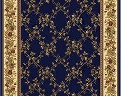 Noble Navy Rug modern-rugs