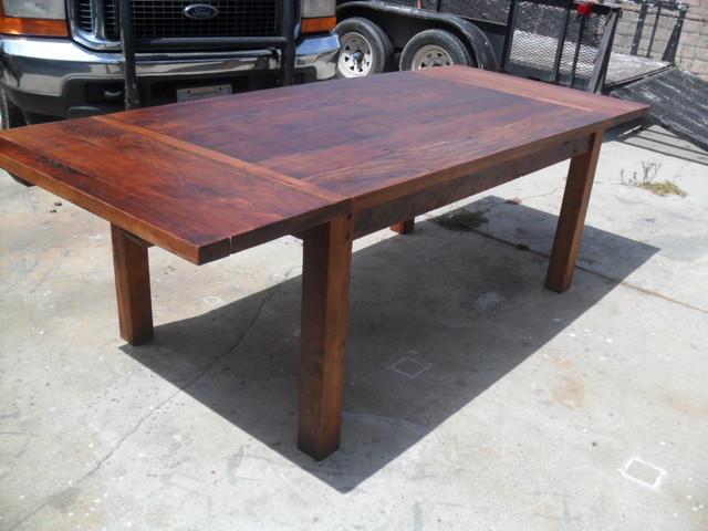 Reclaimed wood table farmhouse-dining-tables