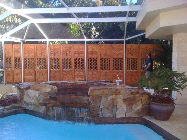 Pool Mural and Enclosure - Tropical - Hot Tub And Pool Supplies - other metro - by FerrisStudios