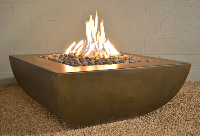 Legacy Square Fire Pit Modern Pits Other Metro By Yard Art