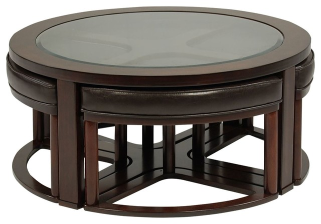Marion Round Cocktail Stools eclectic coffee tables