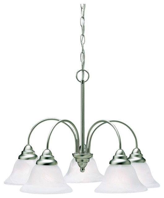 Traditional Kichler Telford Brushed Nickel Finish 5-Light Chandelier contemporary-chandeliers