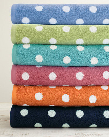 Dot to Dot Towels contemporary-towels