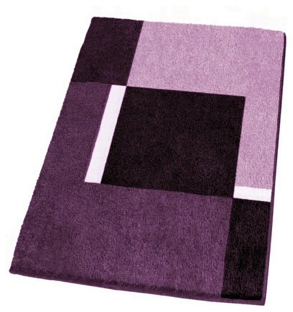 Modern Non-Slip Washable Purple Bath Rugs, Small modern-bath-mats