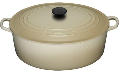 Enameled Cast Iron 6 3/4-Qt. Oval Dutch Oven modern-oven-mitts-and-pot-holders