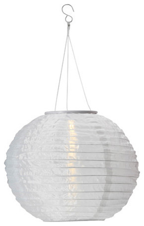 solvinden solar powered pendant lamp white modern outdoor hanging lights. Black Bedroom Furniture Sets. Home Design Ideas