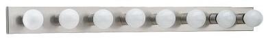 Sea Gull Center Stage Bathroom Light Bar - 48W in. Brushed Stainless modern-bathroom-vanity-lighting