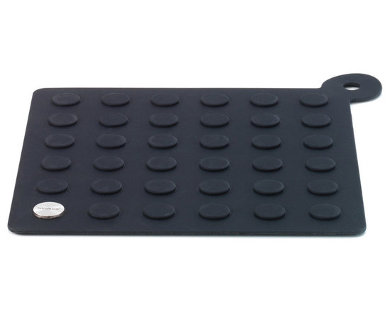"""Blomus - Lap Coaster Potholder - The Lap Coaster/Potholder by Blomus is made of Silicone and Stainless Steel. Slip resistant surface easily grips pots as a potholder or protects surfaces as a coaster. Size: 7.9"""" x 7.9"""" inches (20L x 20W x .5 cm)"""