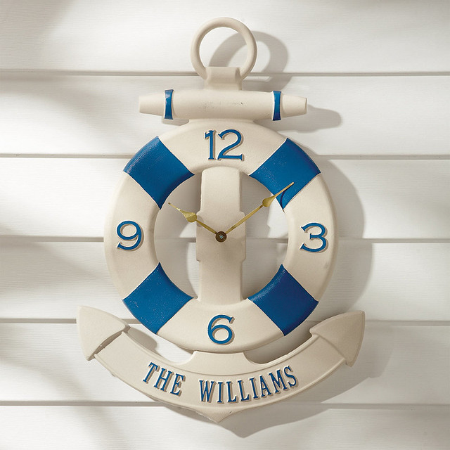 Personalized Anchor Outdoor Clock traditional-outdoor-clocks