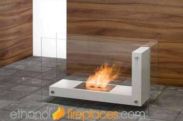 Free standing ethanol fireplaces contemporary indoor Free standing fireplace