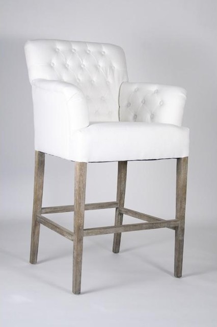 Zentique Barrois Tufted Bar Stool traditional bar stools and counter stools