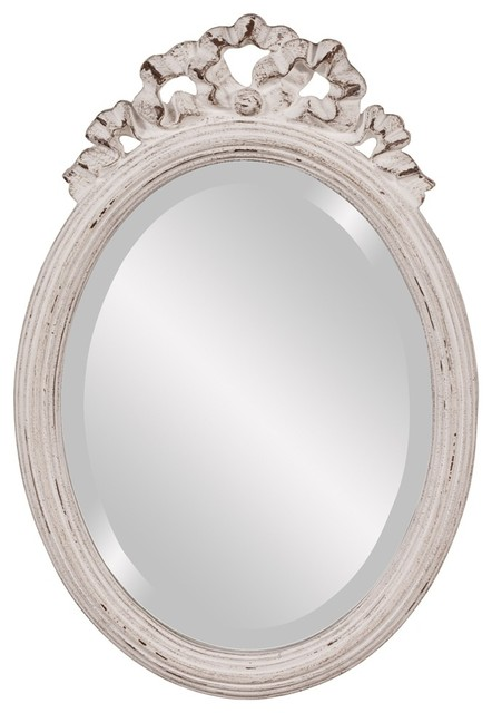 Charleston Oval White Mirror traditional-mirrors