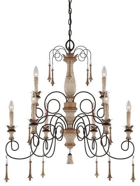 Minka Lavery 1239-580 Accents Provence Chandelier In Provence Patina traditional-chandeliers