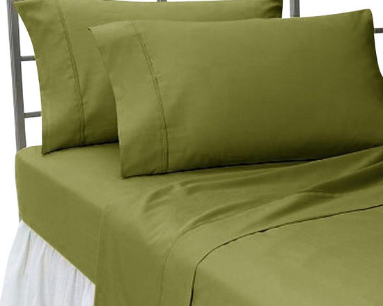 SCALA - 400TC 100% Egyptian Cotton Solid Moss Full Size Flat Sheet - Redefine your everyday elegance with these luxuriously super Flat Sheet  . This is 100% Egyptian Cotton Superior quality Flat Sheet that are truly worthy of a classy and elegant look.