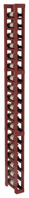 1 Column Split Bottle Cellar Kit in Pine with Cherry Stain traditional-wine-racks