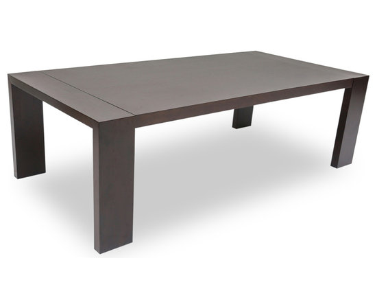 Bryght - Clarkson Light Cappuccino Wood Dining Table - The Clarkson wood dining table with its modern sturdy lines epitomizes high quality and endurance. A lovely grained top and well designed legs, the Clarkson dining table is sure to make a bold statement in any home decor.