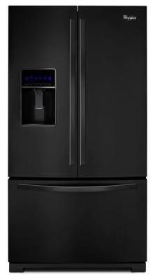 Whirlpool Refrigerator. 26.1 cu. ft. French Door Refrigerator in Black WRF736SDA contemporary-refrigerators