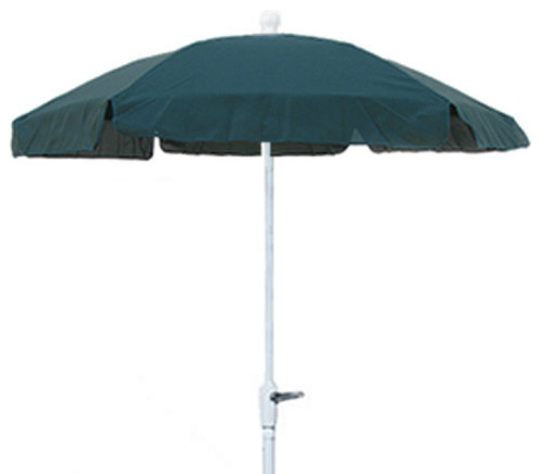 FiberBuilt Umbrella Foot Hexagonal Forest Green Aluminium Base Garden Umbrella outdoor-umbrellas