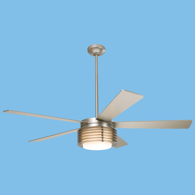 Modern Fan - Pharos Nickel Fan modern ceiling fans