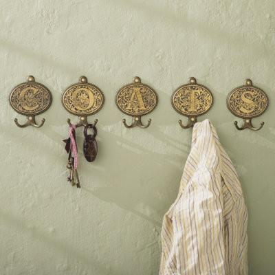 Filigree Monogram Hooks traditional-wall-hooks