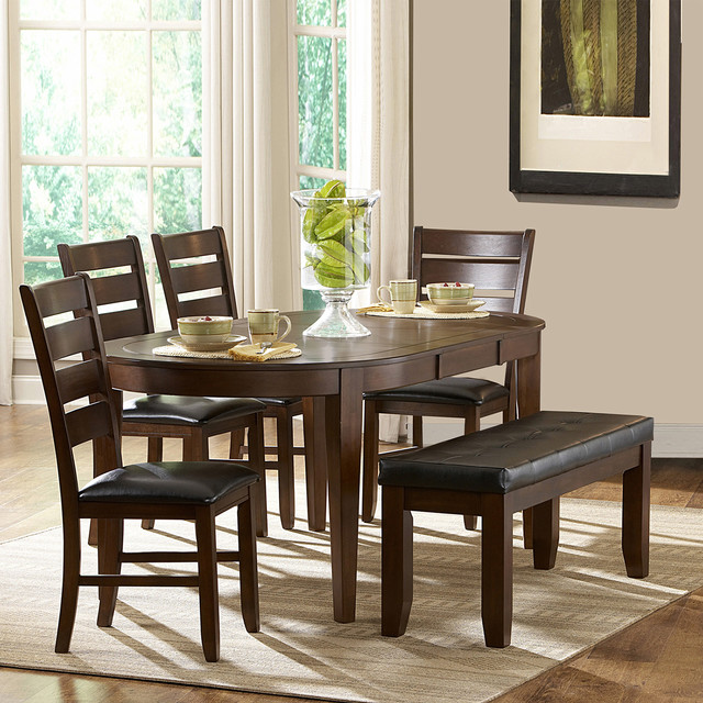 Piece Oval Shape Dining Set Contemporary Dining Sets By