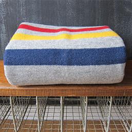 Faribault Woolen Mills Revival Stripe Throw Blanket traditional-throws
