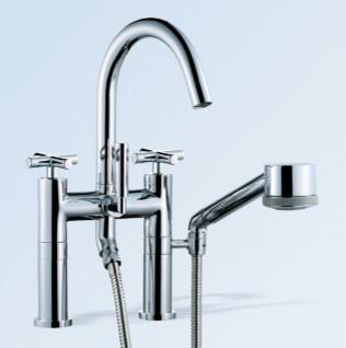 Dornbracht Tara floor mounted bath shower mixer bathroom-faucets-and-showerheads