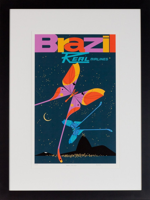 """Charley Harper, Brazil Real Airlines 1951"" Limited Edition Giclée Print modern-artwork"