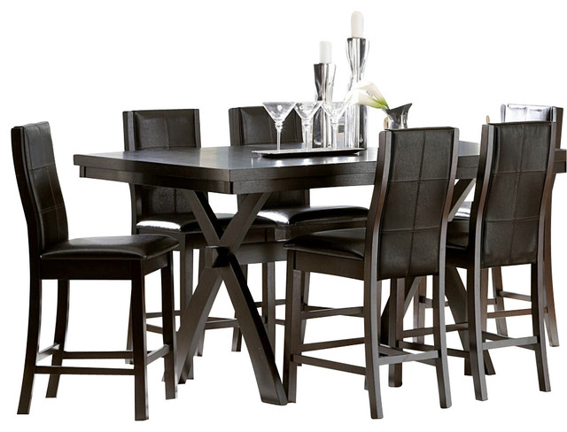 homelegance rigby 7 piece counter height dining room set
