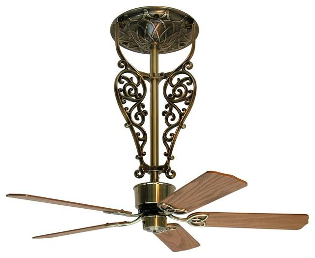 52 fanimation americana antique brass filigree ceiling. Black Bedroom Furniture Sets. Home Design Ideas