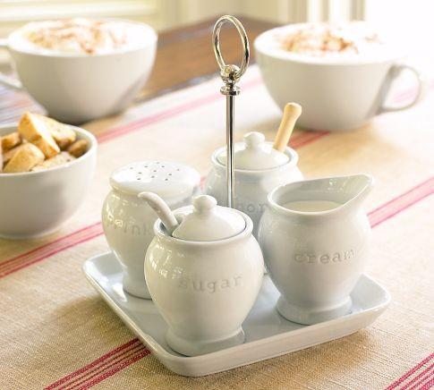 Great White Coffee Condiment Set traditional-serveware