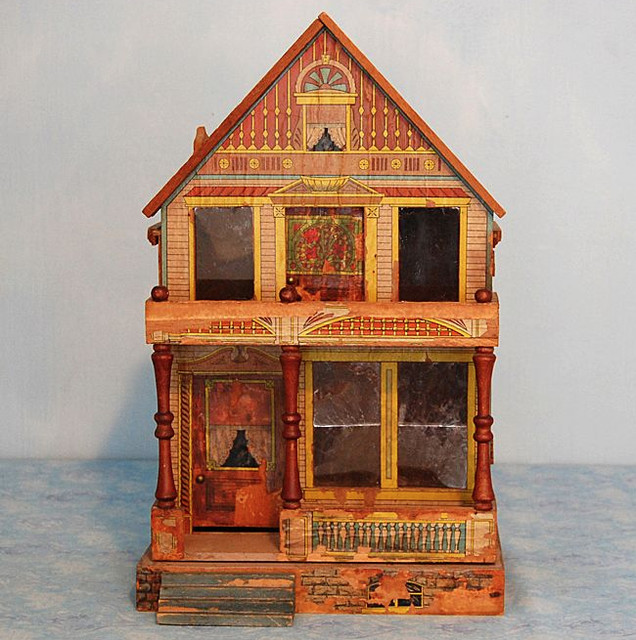 Antique Lithographed Dollhouse - Traditional - Home Decor - by Ruby Lane