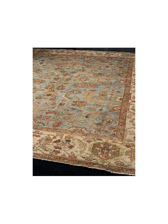 "Exquisite Rugs - Exquisite Rugs ""Seaside"" Oushak Rug - Go for serenity from the ground up with a calming rug. Hand knotted of New Zealand wool. Sizes are approximate. Imported. See our Rug Guide for tips on how to measure for a rug, choosing weaves and patterns, and more."