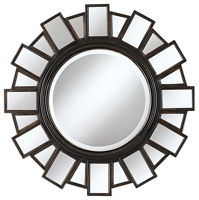 """Contemporary Mirrored Frame 35 1/2"""" Wide Moonlight Wall Mirror contemporary-wall-mirrors"""