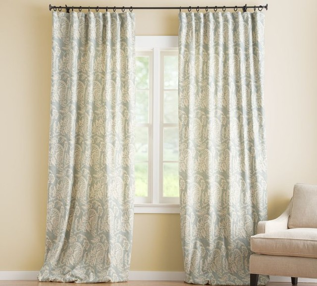 Alessandra Floral Drape With Blackout Liner contemporary-curtains