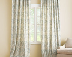 Alessandra Floral Drape With Blackout Liner contemporary curtains
