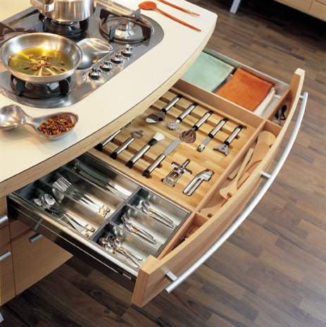 Snaidero Fitted Drawer Accessories contemporary-kitchen-drawer-organizers