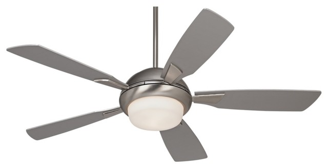 54 Possini Euro Cobalt Brushed Steel Ceiling Fan With